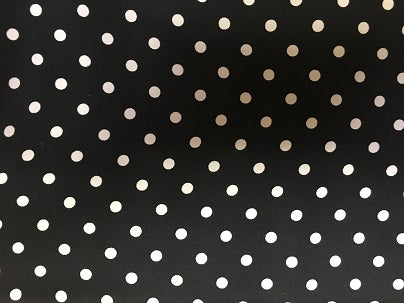 Cowboy Images Accessory: Scarf Dots White on Black