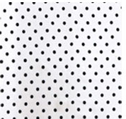 Cowboy Images Accessory: Scarf Dots Black on White