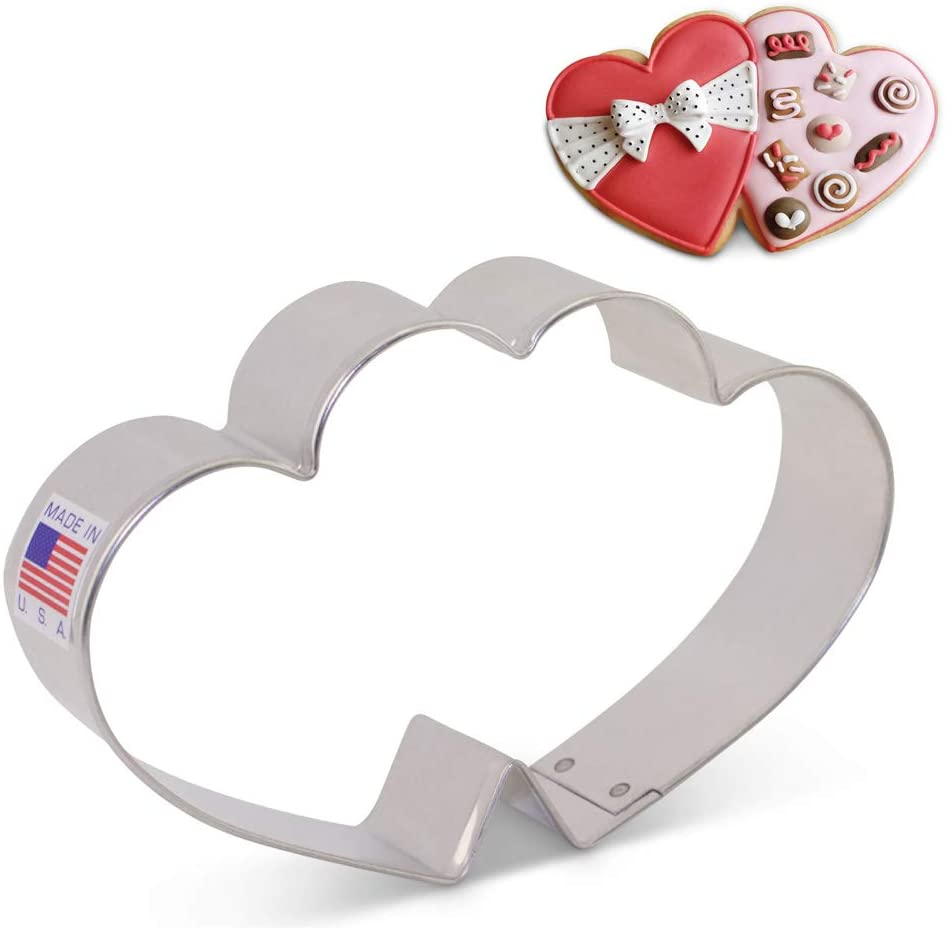 Ann Clark Cookie Cutter Double Heart #158163