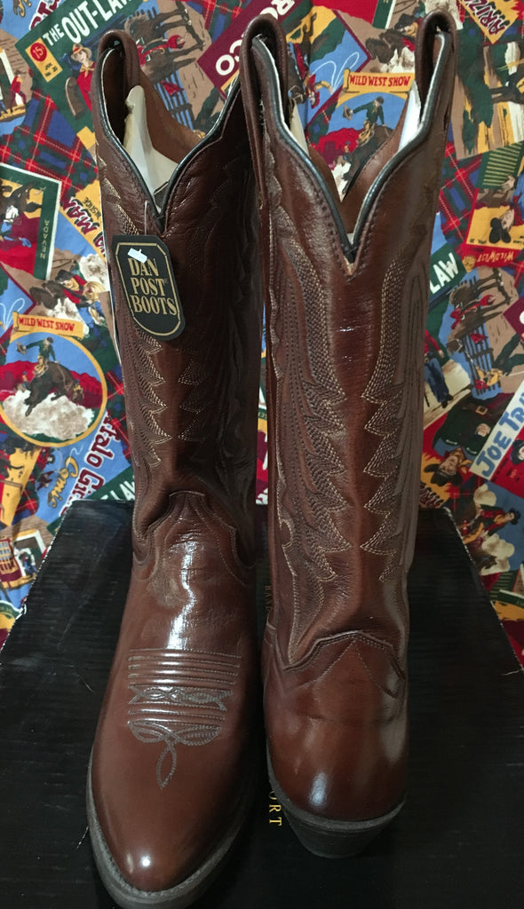 Dan Post Ladies' MIstie Brown Leather Boot Front and Back