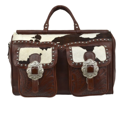 American West Pendleton Pony Hair On Hide Duffle