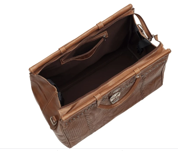 American West Travel Retro Duffle Bag Interior