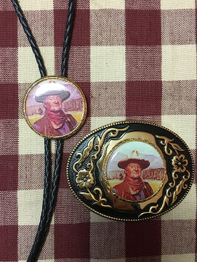 Rockmount Ranch Wear Accessory Bolo and Buckle The Duke John Wayne