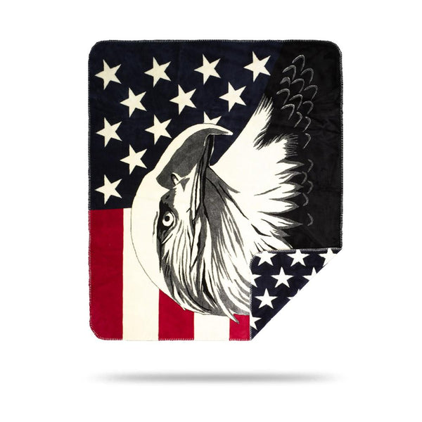 Denali Blankets Eagle and Stars Front