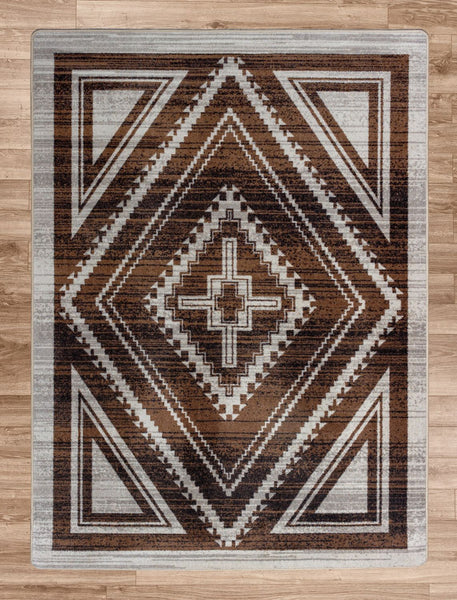 American Dakota Rug Rim Shot Earthen Rectangle