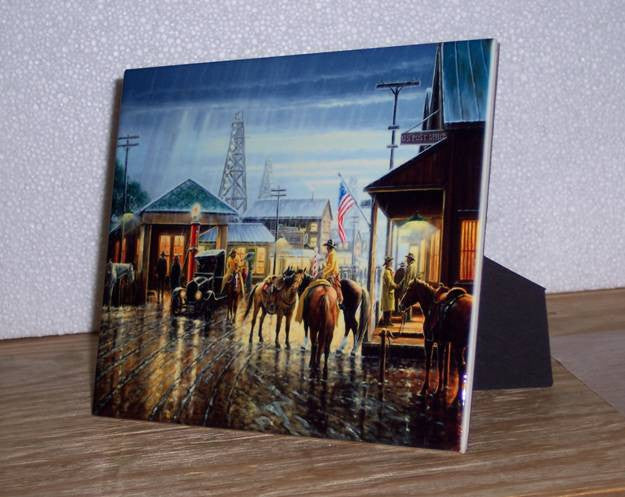 Art Ceramic Tile on Easel Example