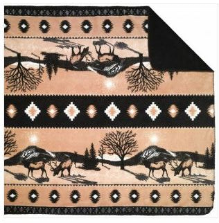 Denali Blankets Elk Throw Blanket Front