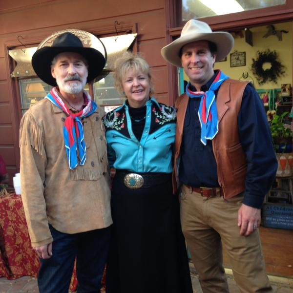 Author Eric H. Heisner & Aritst Al P. Bringas with OutWest's Bobbi Jean Bell
