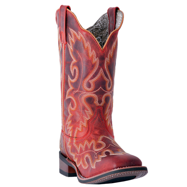 Ladies Dan Post Boots Western Fashion Eva Red Leather Front