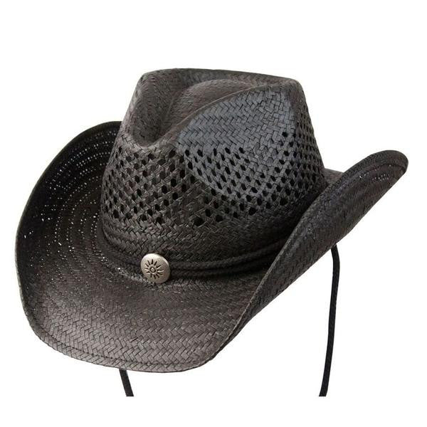 "Conner Handmade Hats Toyo ""Air Conditioned"" Western Shape Black"