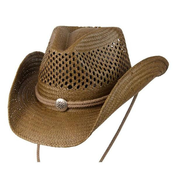 "Conner Handmade Hats Toyo ""Air Conditioned"" Western Shape Brown"