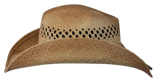 "Conner Handmade Hats Raffia Western Style ""Tex"" Side View"