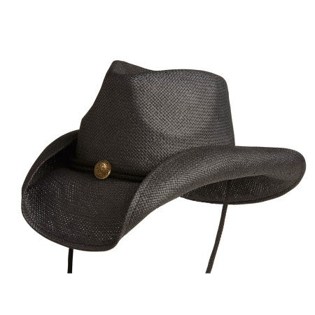 Conner Handmade Hats Raffia Fairhope Black