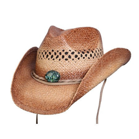 "Conner Handmade Hats Western ""Mojave"" with Turquoise Colored Bead"
