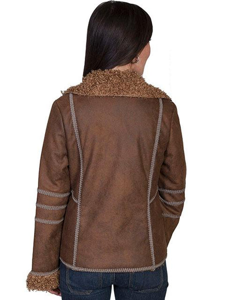 Scully Honey Creek Ladies' Faux Fur Jacket Front