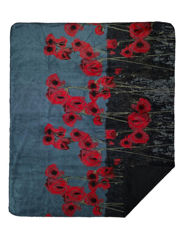 Denali Blankets Field of Poppies Throw Blanket Front