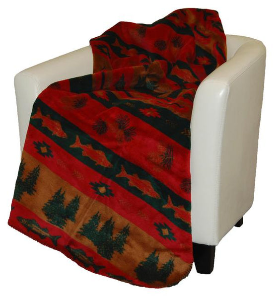 Denali Blankets Fish Lodge Throw Blanket Front