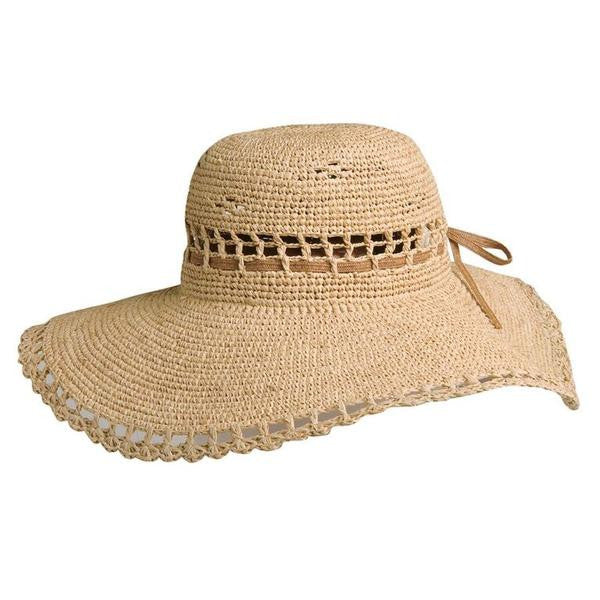 Conner Handmade Hats Beach and Resort Wide Brim Amy Summer Straw