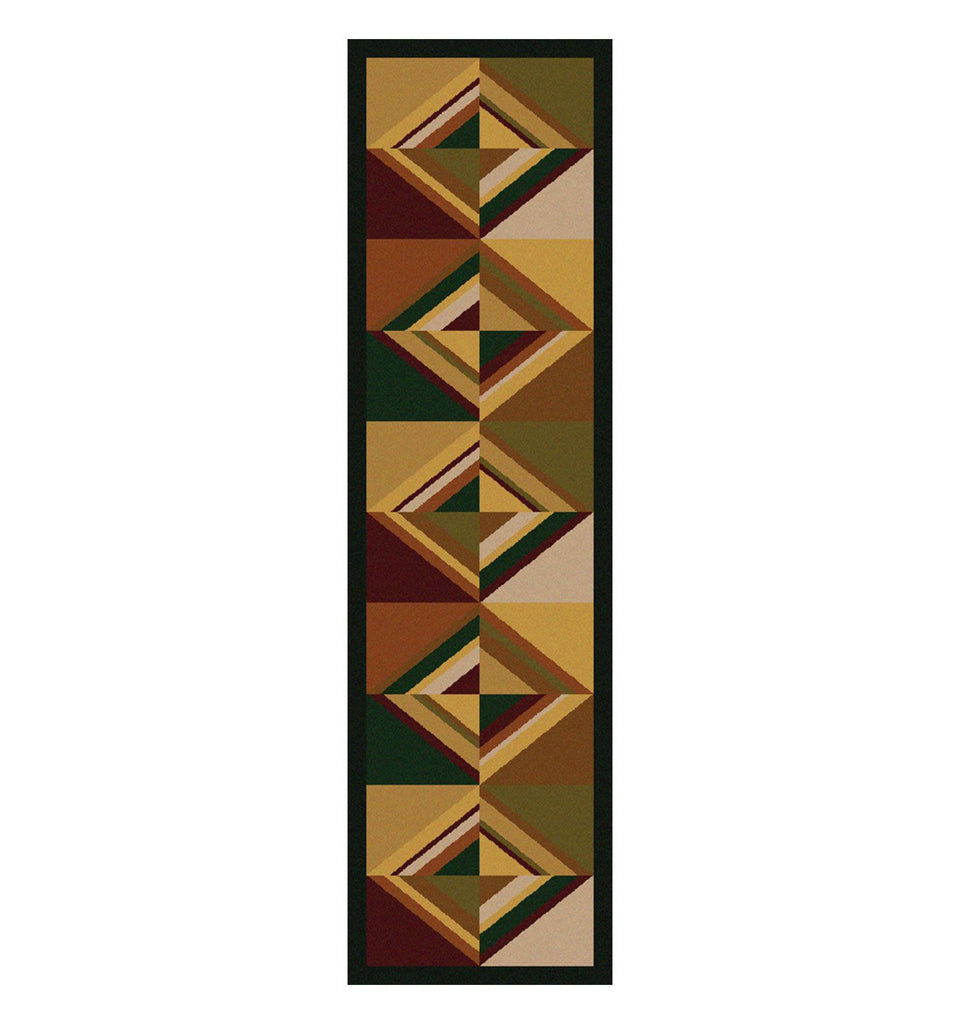 American Dakota Folk Lore Area Rug Runner