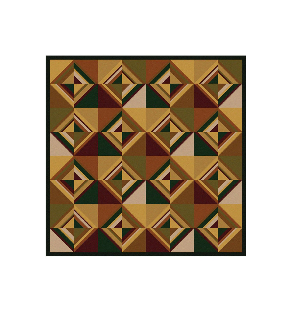American Dakota Folk Lore Area Rug Square