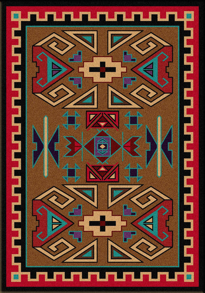 American Dakota Rug Four Rams Rectangle