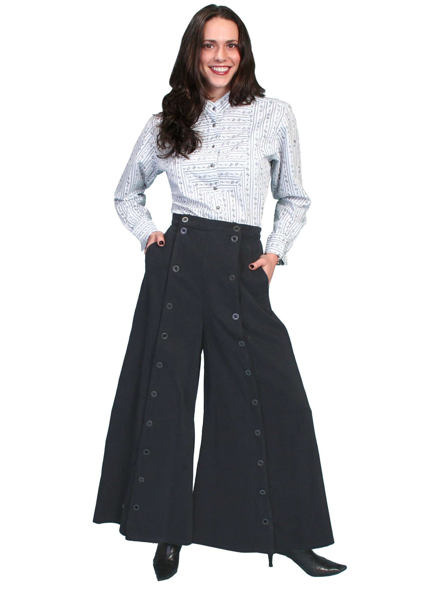 bd9445e162 ... Pants Collection: Rangewear Split Riding Skirt. Scully Ladies Rangewear  Split Riding Pant Black ...