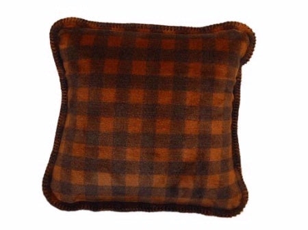 Denali Blankets Buffalo Plaid Check Gold Taupe Pillow