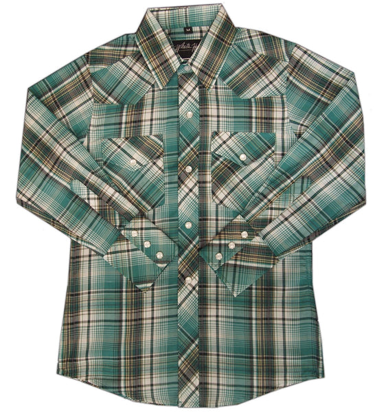 White Horse Apparel Children's Casual Plaid Green/Black