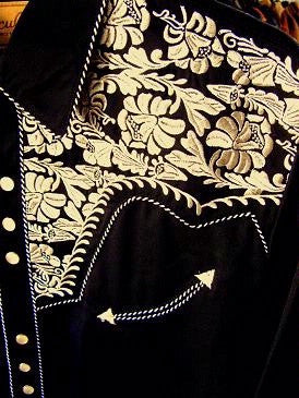 Vintage Inspired Western Shirt Ladies Scully Gunfighter Gold Black Front XS-XL