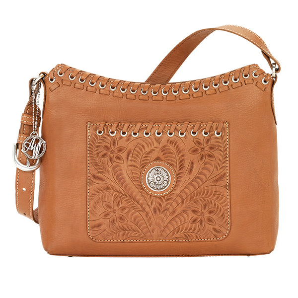 American West Handbag Harvest Moon Collection: Zip Top Shoulder Tote