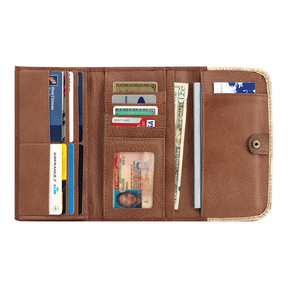 American West Handbag, Harvest Moon Collection, Tri-Fold Wallet Inside View