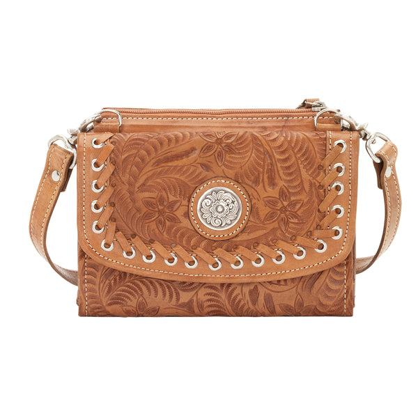 American West Handbag, Harvest Moon Collection, Crossbody Wallet Bag, Front View