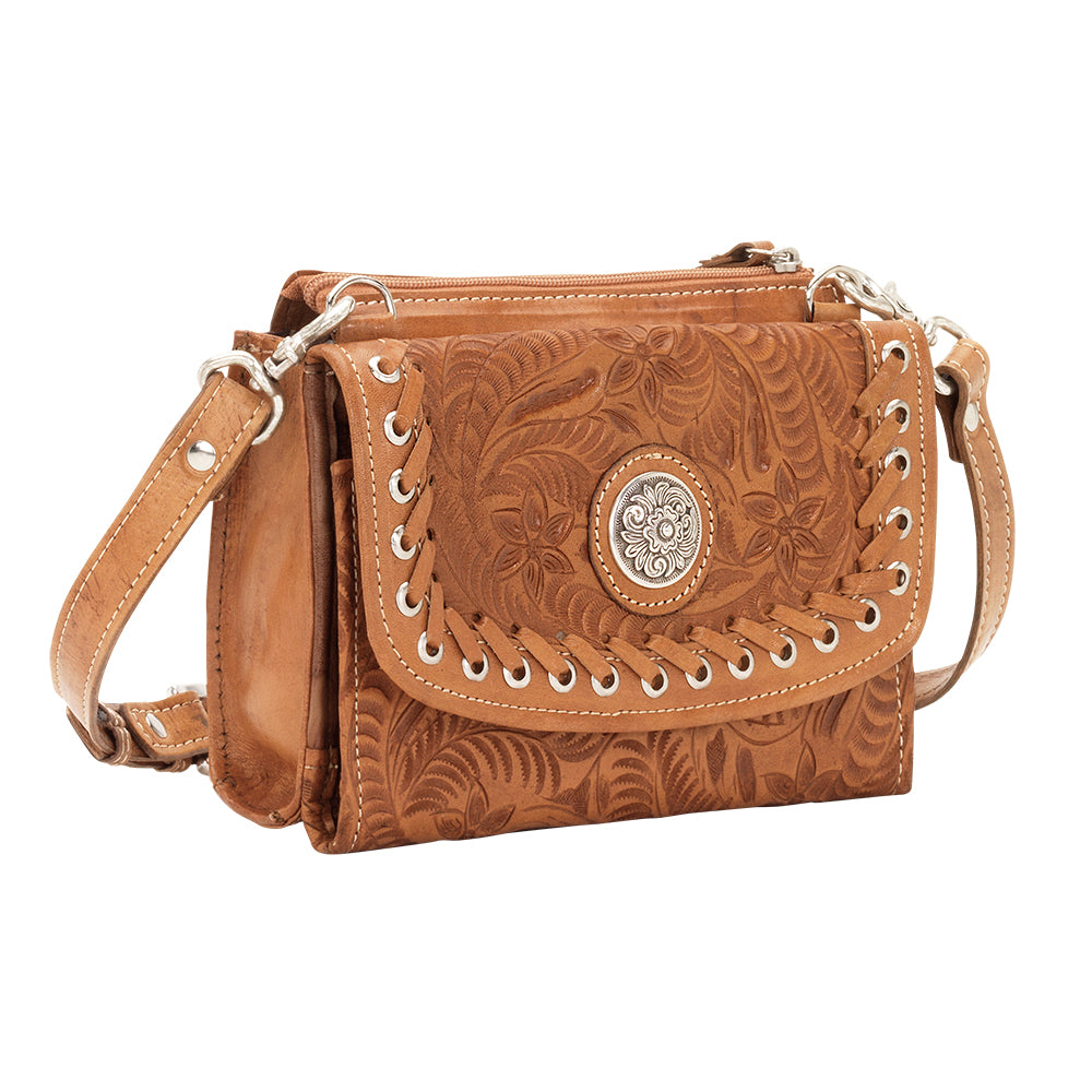 American West Handbag Harvest Moon Collection: Crossbody Bag Wallet Combo