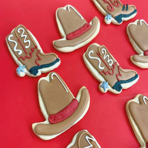 Ann Clark Cookie Cutter Cowboy Hat and Boots Cookies