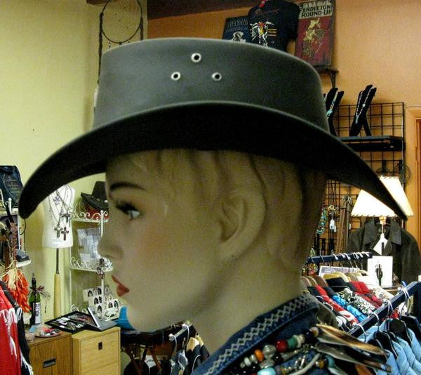 Conner Handmade Hats Cowboy Leather Down Under Brown Side
