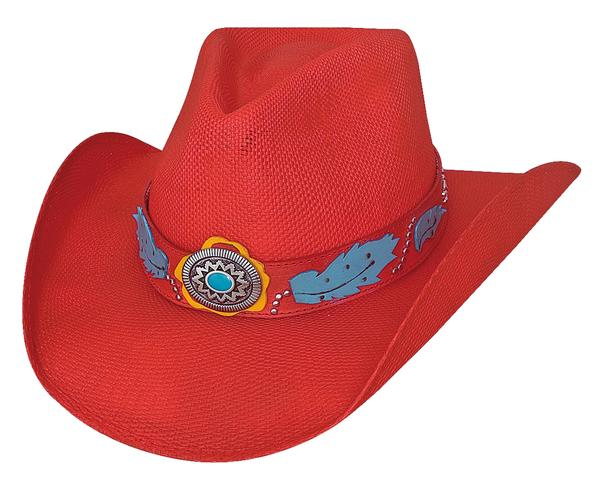 Sassy One Red Straw Hat Front