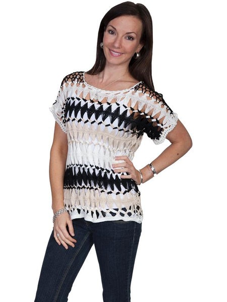 Scully Honey Creek Ladies' Crochet Top Front