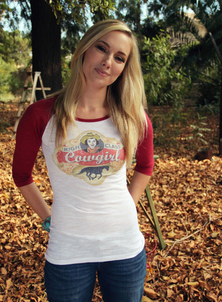 Original Cowgirl Clothing Baseball T-Shirt High Class Cowgirl Jr. Sizes