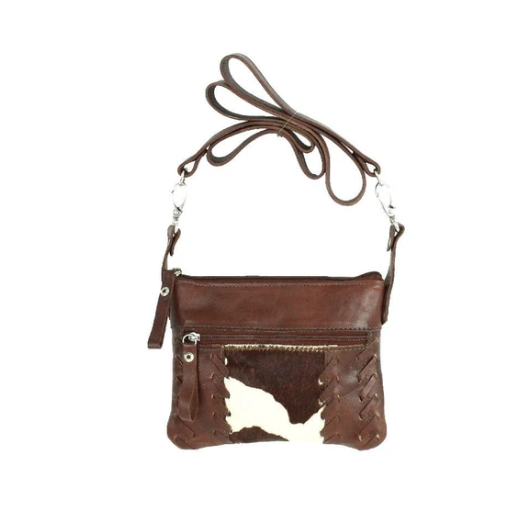 American West Pendleton Pony Crossbody Hip Bag Dark Brown