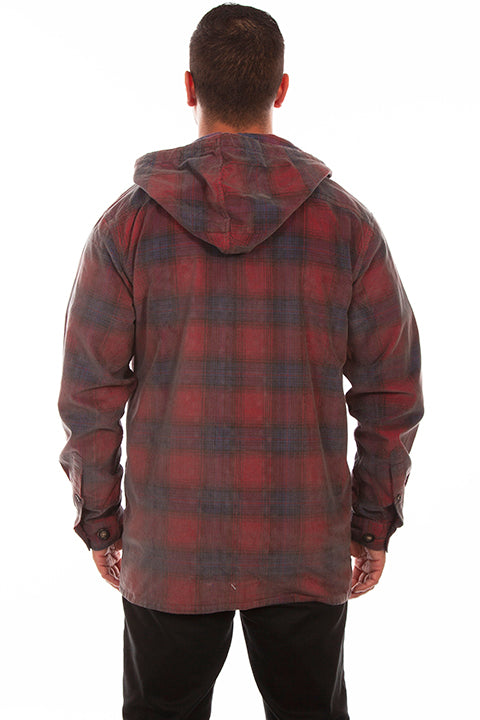 Men's Farthest Point Collection Jacket: Outdoor Plaid Hoodie