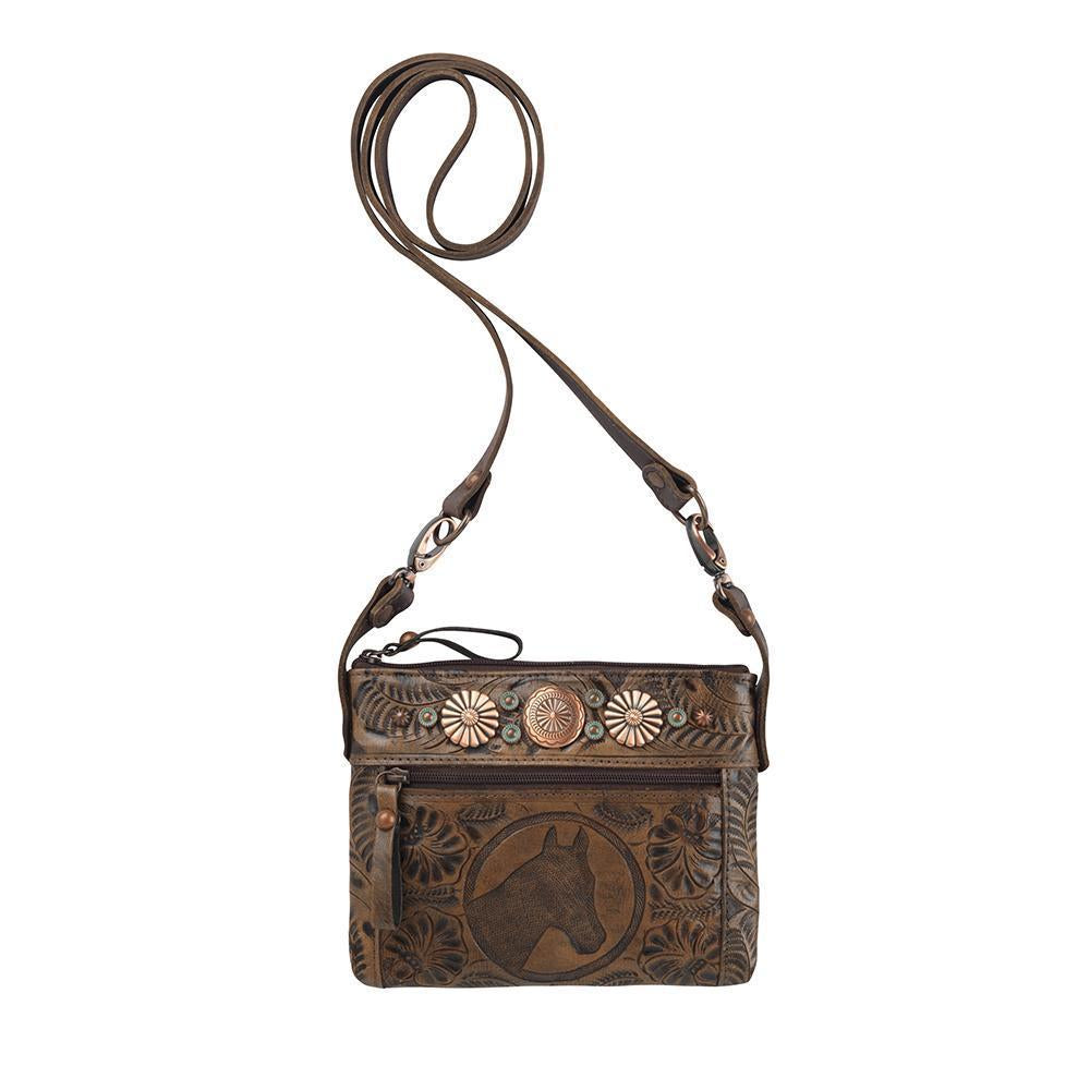 American West Trail Rider Collection: Crossbody Hip Bag Horse Head