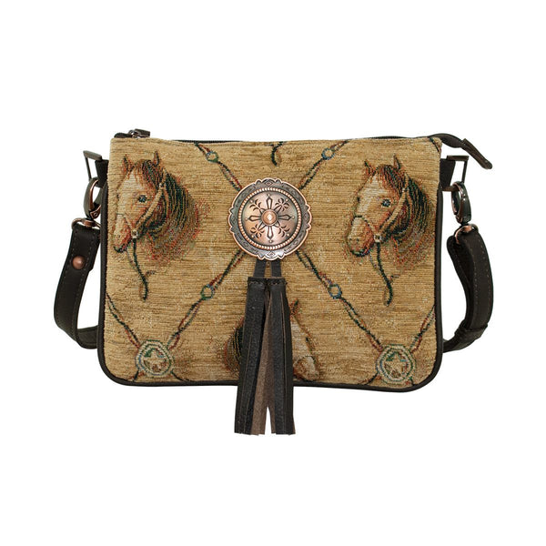 American West Handbag Horse Print Crossbody #9547089