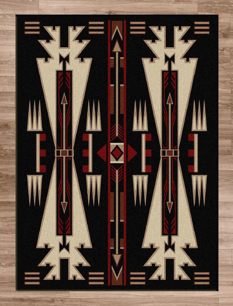 American Dakota Rug Horse Thieves Black