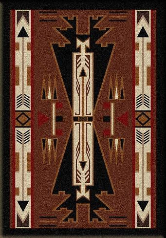 American Dakota Rug Horse Thieves 5x8, 8x11 Brown