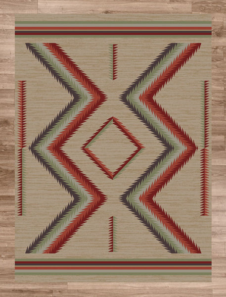 Americana Dakota Hour Glass Fall Area Rugs