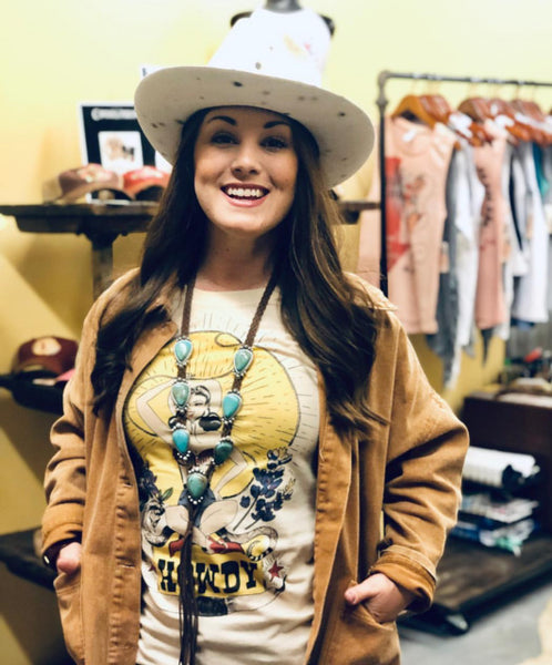 Original Cowgirl Clothing Rockin' B Ranch T-Shirt Howdy