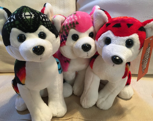 Fleece Stuffed Animals Husky Trio