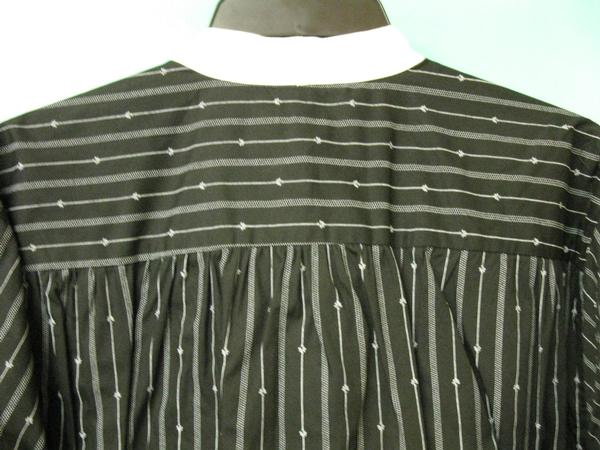 Scully Men's Old West Rangewear Tombstone Collar Shirt Black with White Stripes Back
