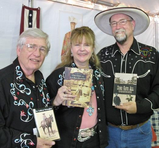 Author J.K. Sanders (R) at the 2014 Buckaroo Book Shop, Santa Clarita Cowboy Festival