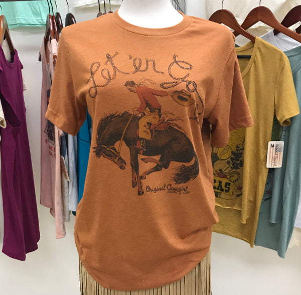 Original Cowgirl Clothing Let 'er Go Rusty Rust